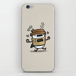 Latte Bot iPhone Skin