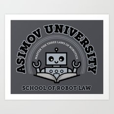 I Majored in Robot Law Art Print