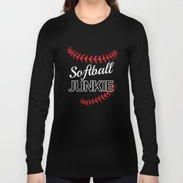 Softball Junkie Graphic Funny Sports T-shirt Long Sleeve T-shirt