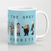 gandalf Mugs featuring gandalf the grey and seven hobbits by gazonula