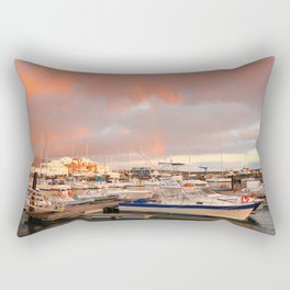 Marina in the Azores Rectangular Pillow