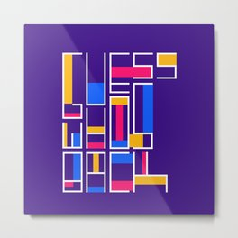 Colored Typography - Gues Who's Back - Modrian Letters Metal Print