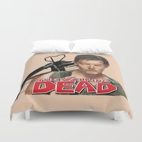 daryl Duvet Covers featuring Daryl Dixon Walking Dead by store2u
