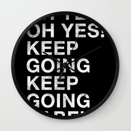 OH YES OH YES! KEEP GOING KEEP GOING BABE! Wall Clock