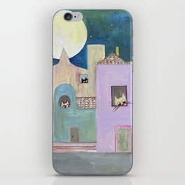 city of cats iPhone Skin