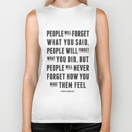I'll never forget you motivational quote Biker Tank