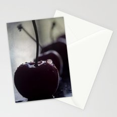 cherries row Stationery Cards