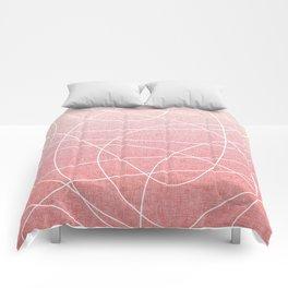 Scribble Linen - Blush Pink Comforters