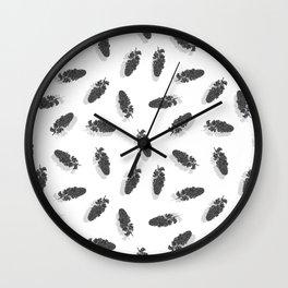 Lilac Maze Grey & White Wall Clock