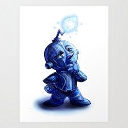 Blue Robot 30 Art Print