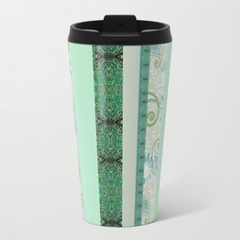 French Stripe Green/Grey Travel Mug