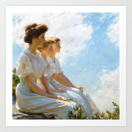 Charles Courtney Curran - On The Heights - Digital Remastered Edition Art Print