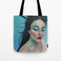 swallow Tote Bags featuring Swallow by Bridget Baldwin