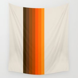 Retro Golden Rainbow - Straight Wall Tapestry