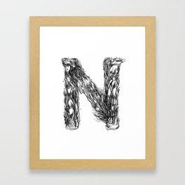 The Illustrated N Framed Art Print