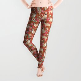 Pug dog breed floral must have cute pugs pure breed pet gifts Leggings