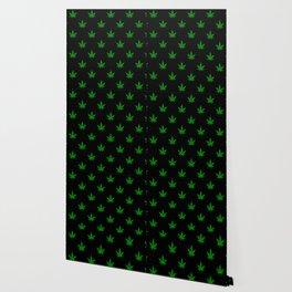 weed leaf print pattern Wallpaper
