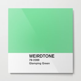 Glamping Green Metal Print