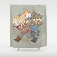 fili Shower Curtains featuring Khuzdith by Lila Gonzalez