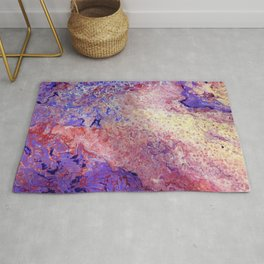 Purple and Red Cosmos Rug