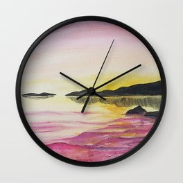 wall art painting of a sunset Wall Clock