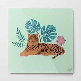 Tropical Tiger  Metal Print