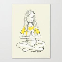 Girl in Sukhasana Canvas Print