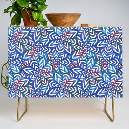 I don't need to improve - Blue and pink Credenza