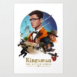 Kingsman - The Golden Circle Art Print