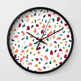 Modern abstract marble mozaic terrazzo pattern Wall Clock