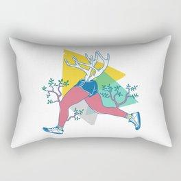 Run like a deer Rectangular Pillow
