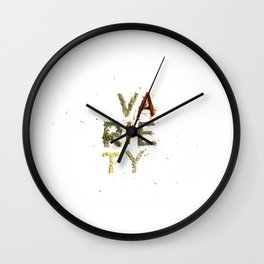 Variety is the Spice of Life Wall Clock