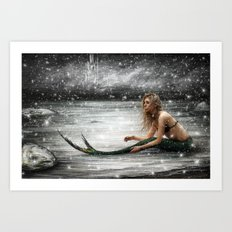 Winter Mermaid Art Print