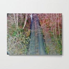Down the Tracks Metal Print