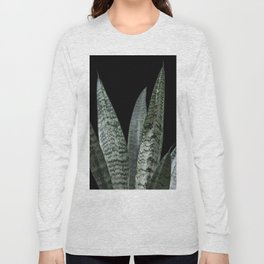 Snake plant with black Long Sleeve T-shirt