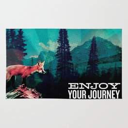Enjoy Your Journey Adventure Fox Rug