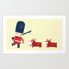 Her Majesty's guards Art Print