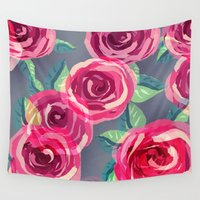 roses Wall Tapestries featuring roses by Vita♥G
