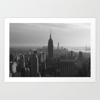 nyc Art Prints featuring NYC by Horizon Studio