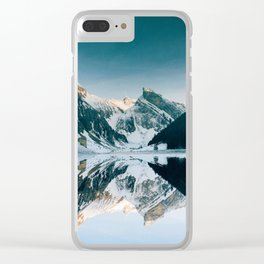 Winter Paradise Clear iPhone Case
