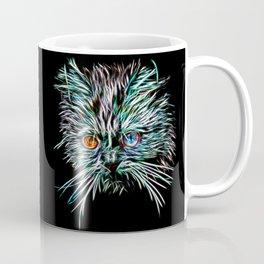 Odd-Eyed White Glowing Cat Coffee Mug