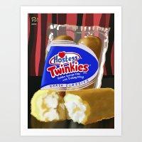 Art Print featuring Twinkie by Raheem Nelson