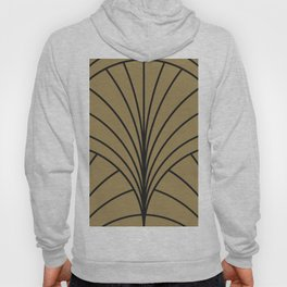 Diamond Series Floral Burst Charcoal on Gold Hoody