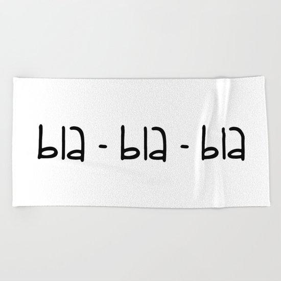 bla-bla-bla Beach Towel