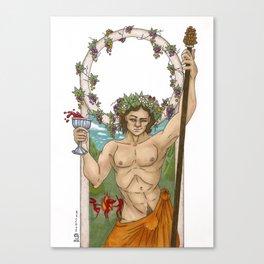 Bacchus, God of Wine Canvas Print