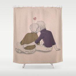 Sherlock Holmes & John Watson Shower Curtain