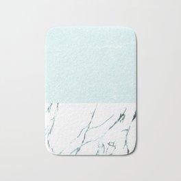 Marble & concrete - soft aqua Bath Mat