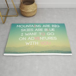 Adventures and I Love You (MODERN) Rug