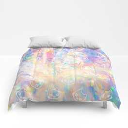 Cat Worm Hole Comforters
