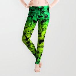 Lovely green geometrical abstract shapes pretty elegant feminine pattern design. Leggings